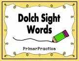 Dolch Primer Worksheets
