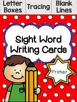 Primer Sight Word Writing Cards