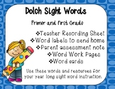Dolch Primer and 1st Grade Sight Words Year Long Resources