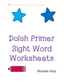Dolch Primer sight word worksheets