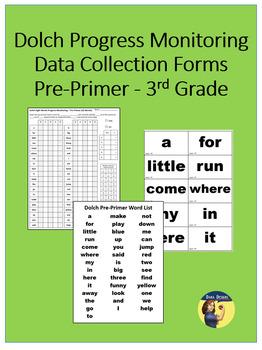 Sight Word Progress Monitoring Forms - Pre-Primer through 3rd Grade