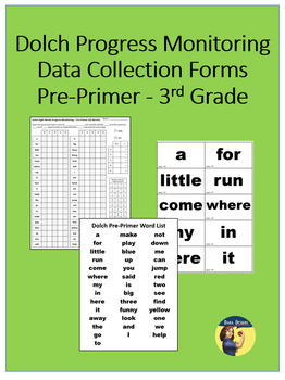 Dolch Progress Monitoring Forms - Pre-Primer through 3rd Grade