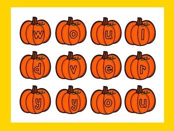 Dolch Pumpkin Build a Sight Word--Second Grade