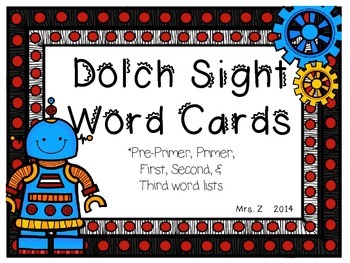 Dolch Robot Sight Word Game