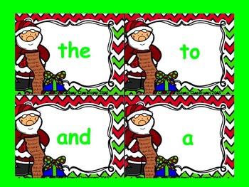 Dolch Santa Build a Sight Word--Pre-Primer