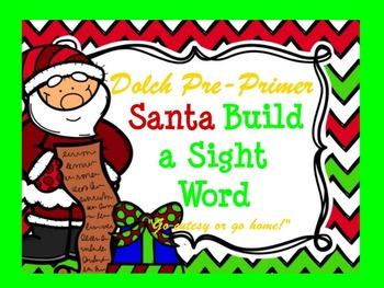 Dolch Santa Build a Sight Word--Primer
