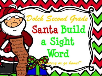 Dolch Santa Build a Sight Word--Second Grade