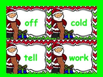 Dolch Santa Build a Sight Word--Second Grade