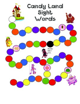 Dolch Second Grade Candyland Game
