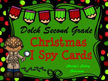 Dolch Second Grade Christmas I Spy Cards
