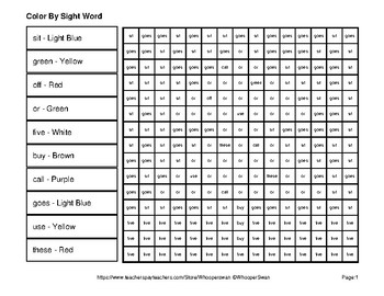 Dolch Second Grade: Color by Sight Word - Christmas Mystery Pictures