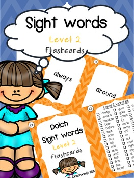 Sight Word Flashcards: Second Grade