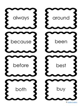 Dolch Second Grade High Frequency Sight Word Vocabulary Flash Cards