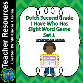Dolch 2nd Grade Set 1 I Have Who Has High Frequency Words Sight Word Game