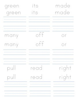Dolch Second Grade Sight Vocabulary- Trace it and Write it