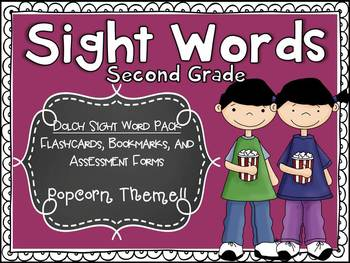 Dolch Second Sight Word Assessment Pack Popcorn Theme - CC