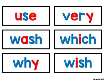 Dolch Second Grade Sight Word Cards