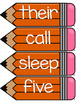 Dolch Second Grade Word Wall Sight Word Cards- Orange