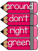 Dolch Second Grade Word Wall Sight Word Cards- Pink