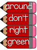 Dolch Second Grade Word Wall Sight Word Cards- Red