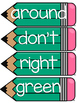 Dolch Second Grade Word Wall Sight Word Cards- Turquoise
