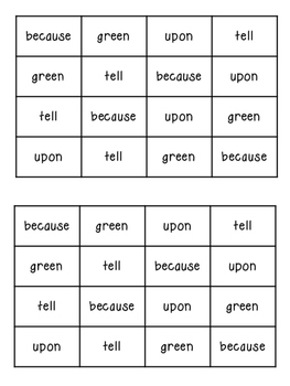 Dolch Second Grade Sight Word Daily Fluency Cards {FREEBIE}