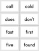 Dolch Second Grade Sight Word Flashcards