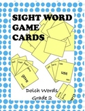 Dolch Second Grade Sight Word Game Cards