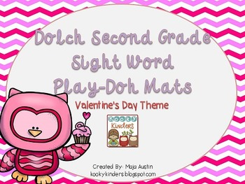 Dolch Second Grade Sight Word Play-Doh Mats Valentine's Day Theme
