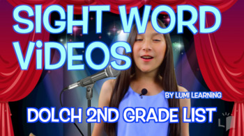Dolch Second Grade Sight Word Videos, 1-23 (Qty. 23 Videos)