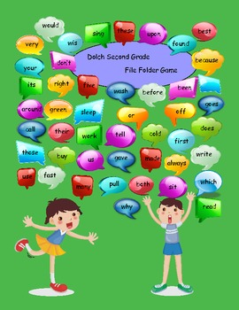 Dolch Second Grade Sight Words File Folder Game
