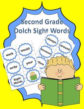 Dolch Second Grade Sight Words Flash Cards