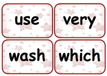 Second Grade Sight Words Flashcards