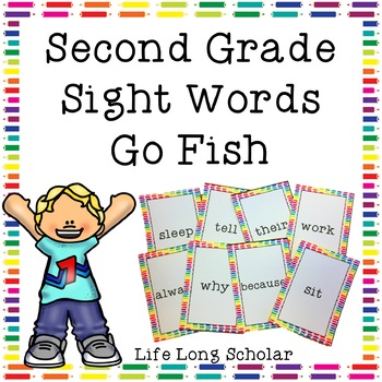 Dolch Second Grade Sight Words Go Fish Review Game
