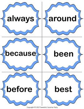 Dolch Second Grade Sight Words Practice and Assessment