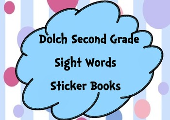 Second Grade Sight Words Sticker Books