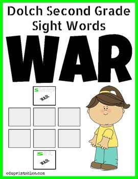 Dolch Second Grade Sight Words War