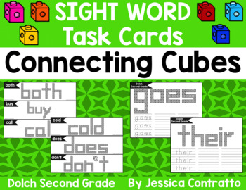 Dolch Second Grade Task Cards: Connecting Cubes