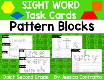 Dolch Second Grade Task Cards: Pattern Blocks