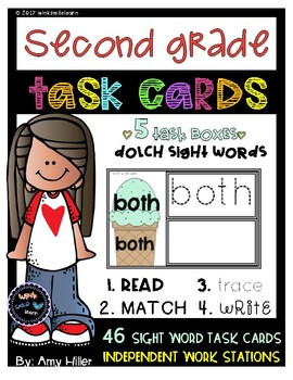 Dolch Second Grade Task Cards [Task Box]