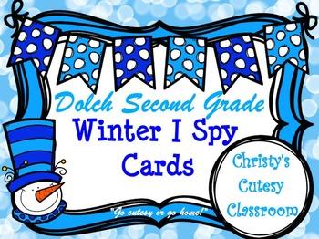 Dolch Second Grade Winter I Spy Cards