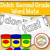 Dolch Second Grade Word Mats - Build and Write - Black and White