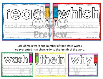 Dolch Second Grade Word Mats - Build and Write -  Color