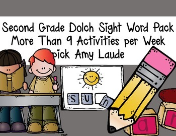 Dolch Second Grade Words- At least nine activities for each set of words