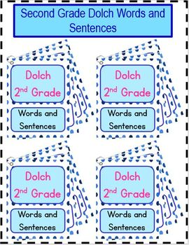 Dolch Second Grade Words and Sentences Practice Cards