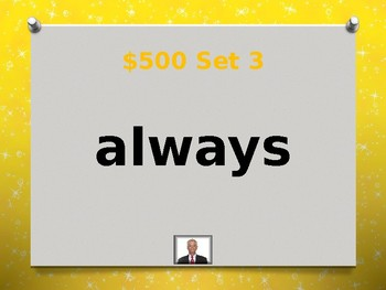 Dolch Second Sight Words Jeopardy Power Point #2
