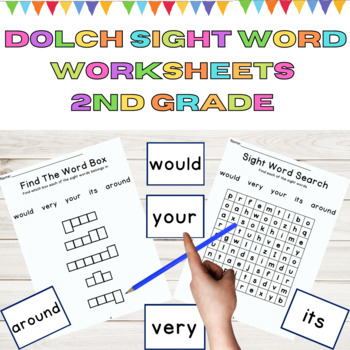 Dolch 2nd Grade 10 Weeks of Sight Word and High Frequency Word Work