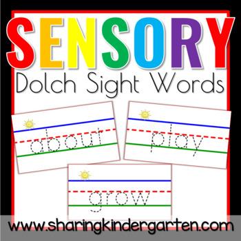 Dolch Sensory Words