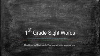 Dolch Sigh Words - 1st grade Fun!