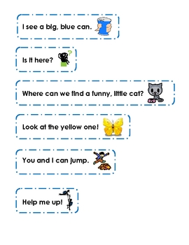 Dolch Sight Sentences (Pre-Primer)